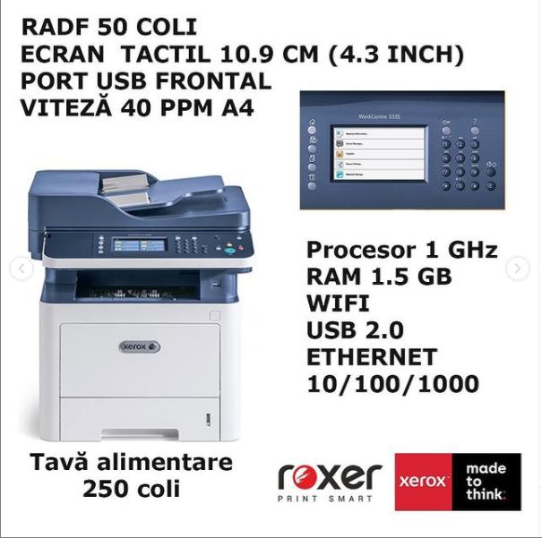 Xerox WorkCentre 3345 detalii tehnice